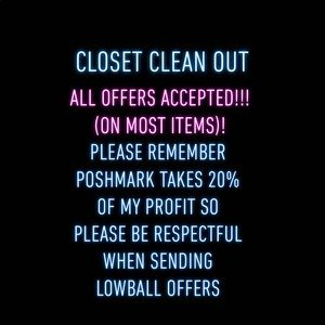 Closet Clean Out!!, Almost all offers accepted!!